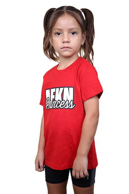 AFKNCHUR Kids Princess Tee Red Front