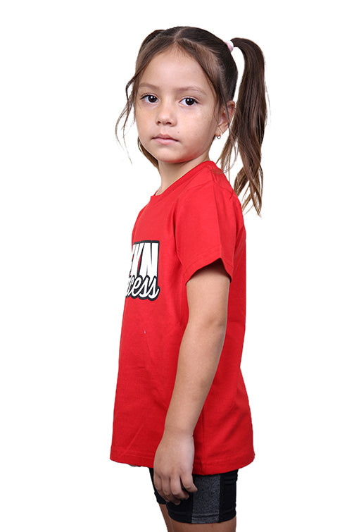AFKNCHUR Kids Princess Tee Red Angle