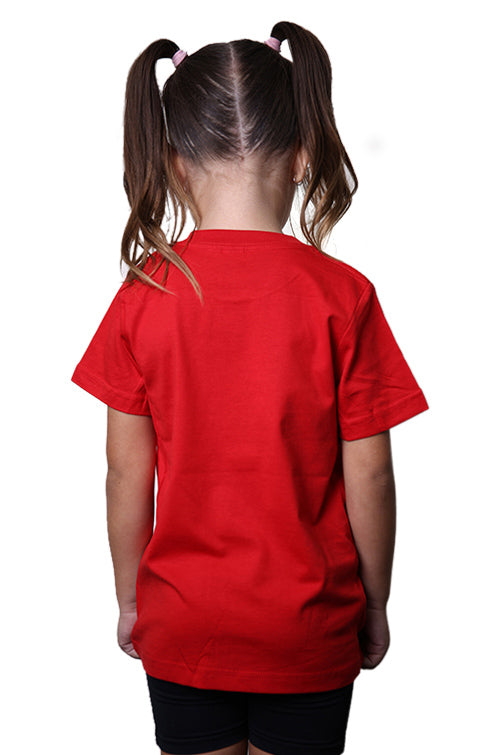 AFKNCHUR Kids Princess Tee Red Back