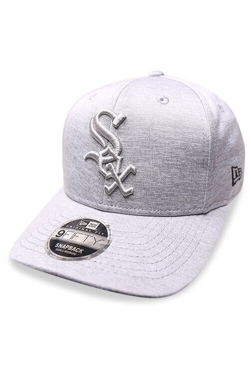New Era 950 White Sox Grey Shadow Snapback Angle