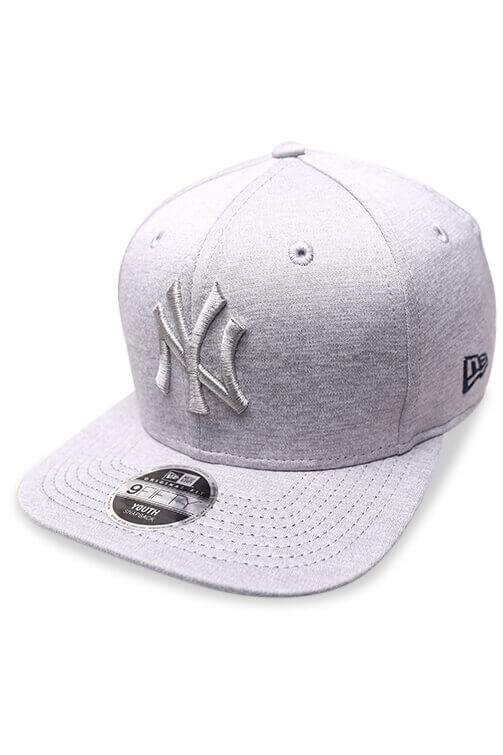 New Era Youth 950 NY Grey Shadow Snapback Angle