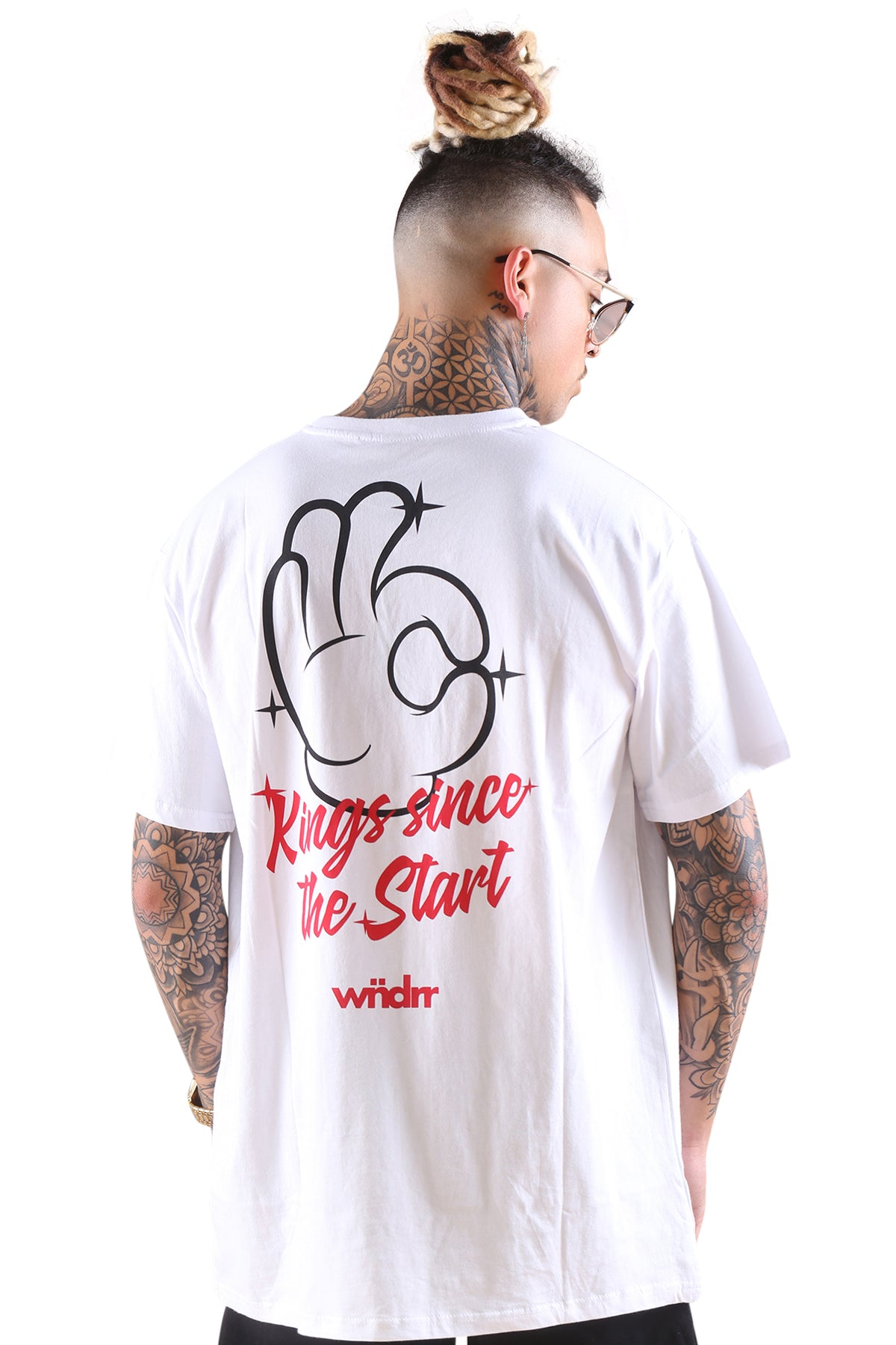 WNDRR Talent Custom Fit Tee White/Red