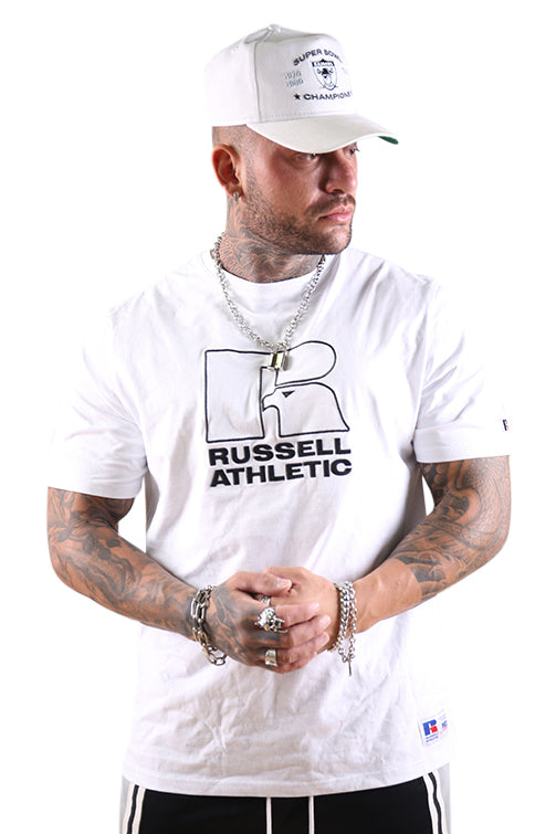 Russell Athletic DJ Mens Pro Cotton Emb Tee White