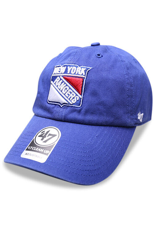 47 Brand New York Rangers Clean Up Royal Strapback Angle