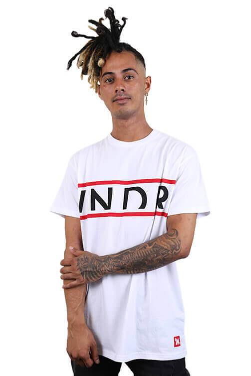 WNDRR League Custom Fit Tee White Front
