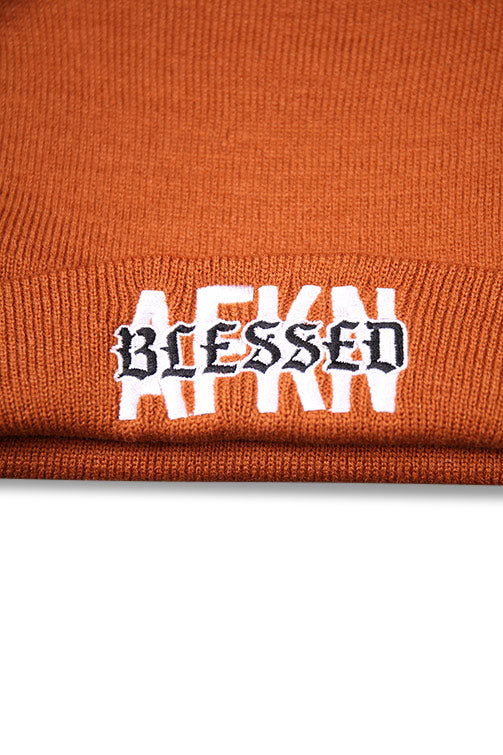 AFKNCHUR AFKNBLESSED Cuff Folded Beanie Copper Detail