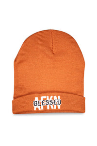 AFKNCHUR AFKNBLESSED Cuff Folded Beanie Copper Front