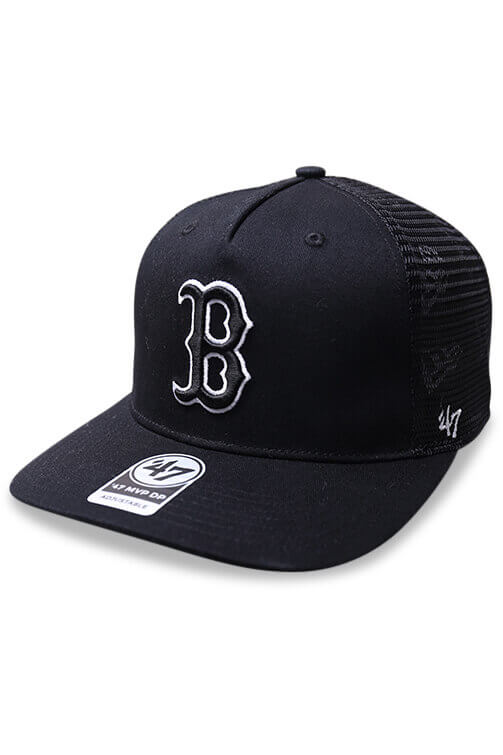 47 Brand Red Sox Level Mesh MVP DV Black Snapback Angle