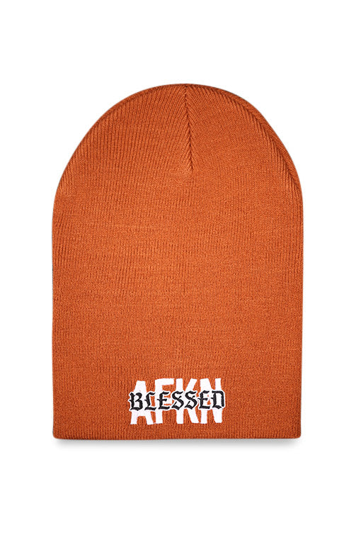 AFKNCHUR AFKNBLESSED Cuff Unfolded Beanie Copper Front