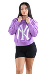 Majestic Womens NY Barnes Cropped Hood Magic Mauve