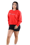 Champion Womens Sporty Crew Vermillion