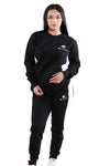 Champion Womens Panel Crew Black/White
