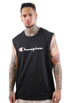 Champion Script Muscle Tee Black