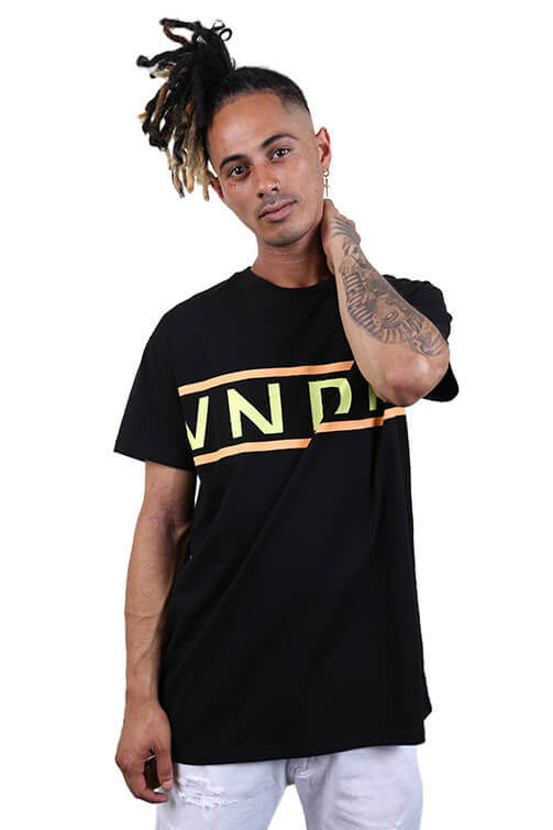 WNDRR League Custom Fit Tee Black Front