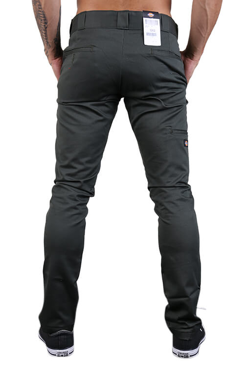 Dickies Skinny Straight Fit Pants Olive