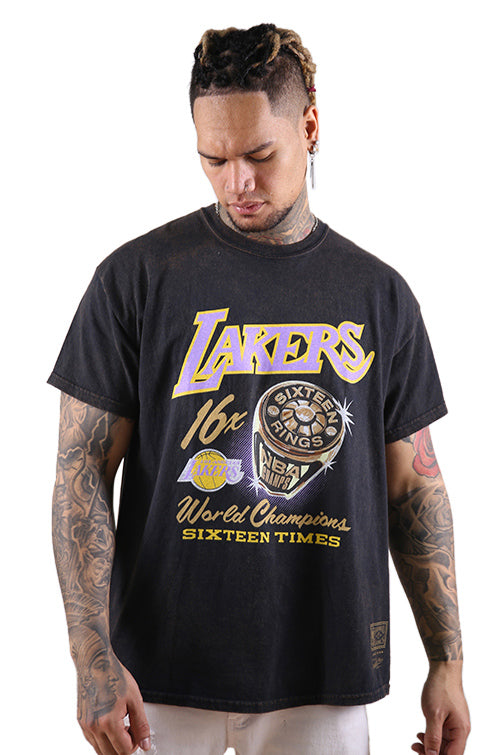 M&N Lakers Bling Rings S/S Tee Black