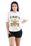 Majestic Womens Pirates Retro Champs Tee Unbleached