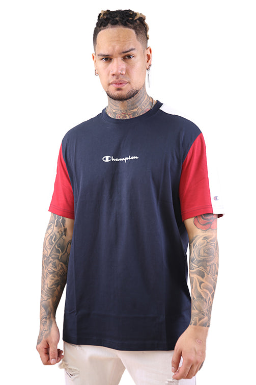 Champion EU Mod Block Tee Navy