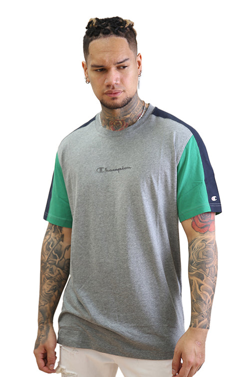 Champion EU Mod Block Tee Grey Marle