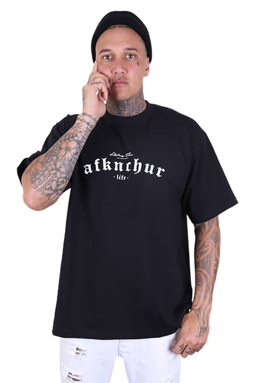 AFKNCHUR Pro Club Lifestyle S/S Tee Black  Front
