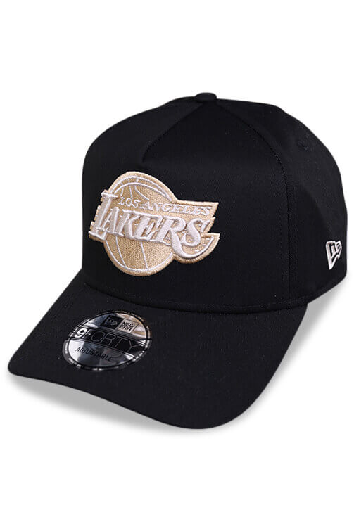 New Era 940 A Frame Lakers Black Snapback Angle