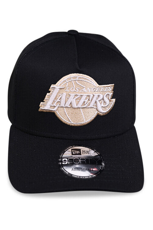 New Era 940 A Frame Lakers Black Snapback Front