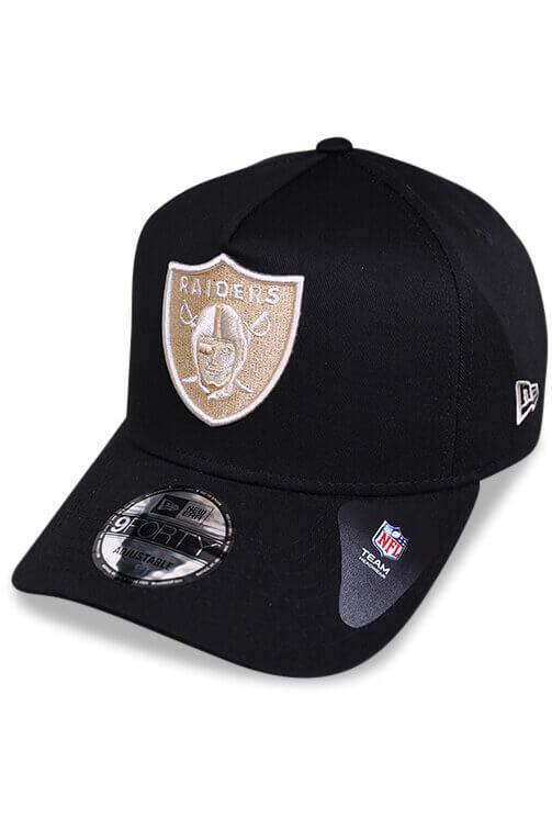 New Era 940 A Frame Raiders Black Snapback Angle