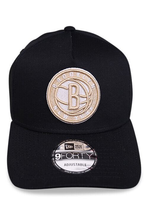 New Era 940 A Frame Brooklyn Nets Black Snapback Front