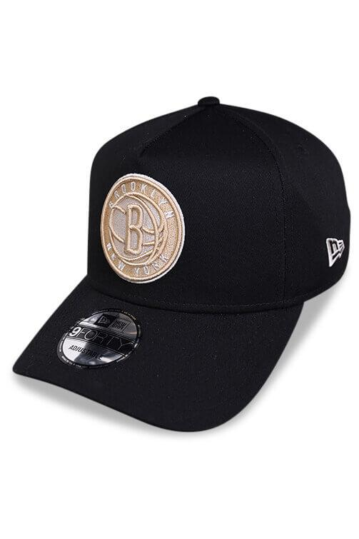New Era 940 A Frame Brooklyn Nets Black Snapback Angle