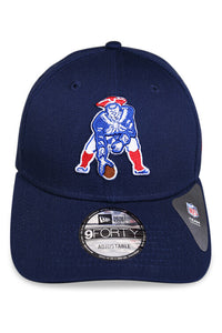 New Era 940 New England Patriots Heritage Blue Strapback Front