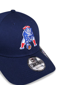 New Era 940 New England Patriots Heritage Blue Strapback Detail