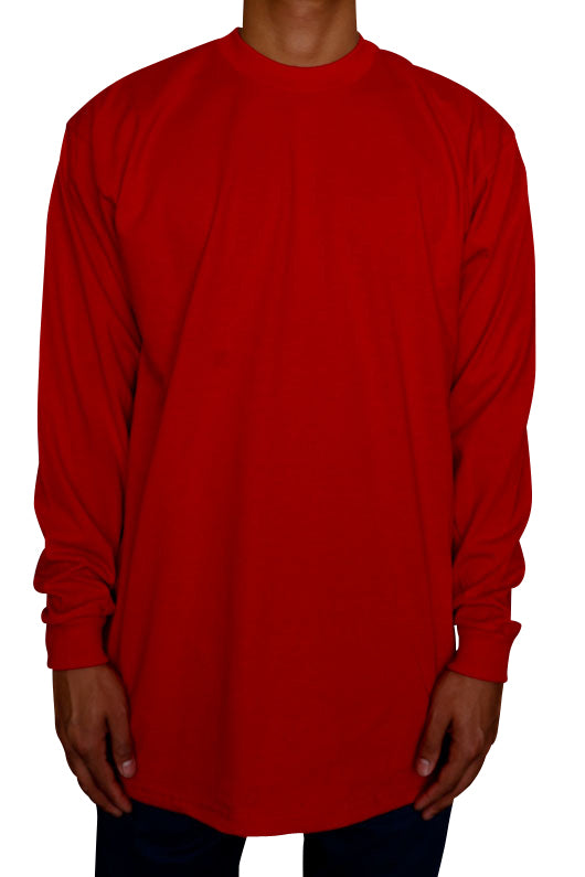Pro Club Heavyweight Long Sleeve Tall Tee Red Front