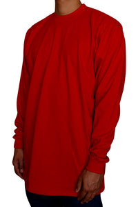 Pro Club Heavyweight Long Sleeve Tall Tee Red Angle
