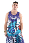 M&N Hornets Jumbotron Sublimated Tank Teal