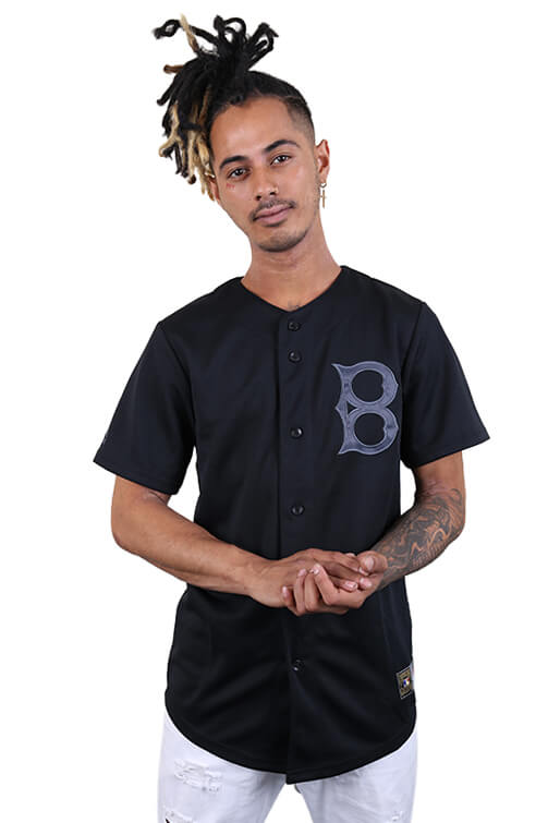 Majestic Brooklyn Dodgers Mono Baseball Jersey Black