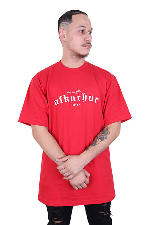 AFKNCHUR Pro Club Lifestyle S/S Tee Red Front