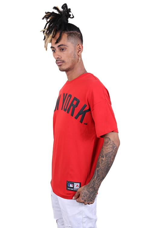 Majestic NY Ranstead Oversized Tee Red