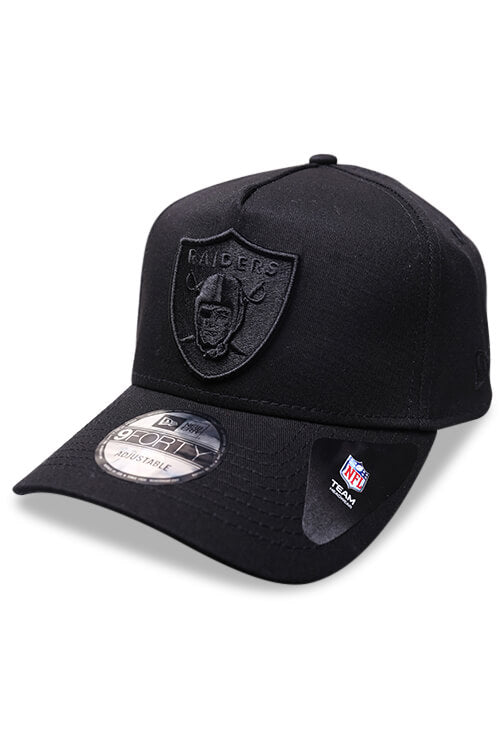 New Era 940 A Frame Raiders Black Tiger Camo Snapback