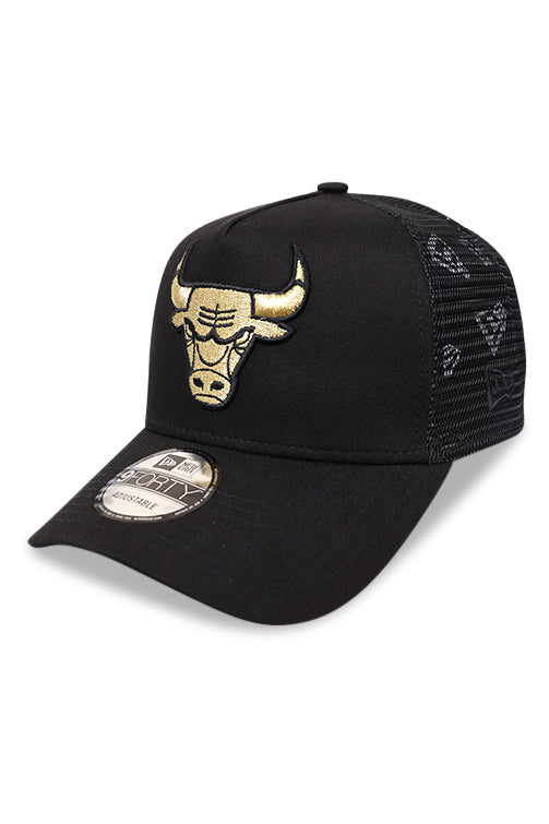 New Era 940 A Frame Bulls Gold Trucker Snapback