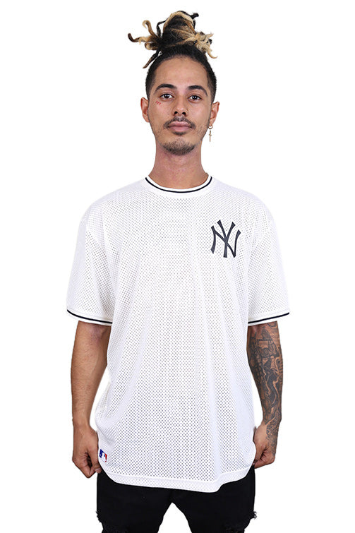 New Era NY Tipping Oversized Mesh White