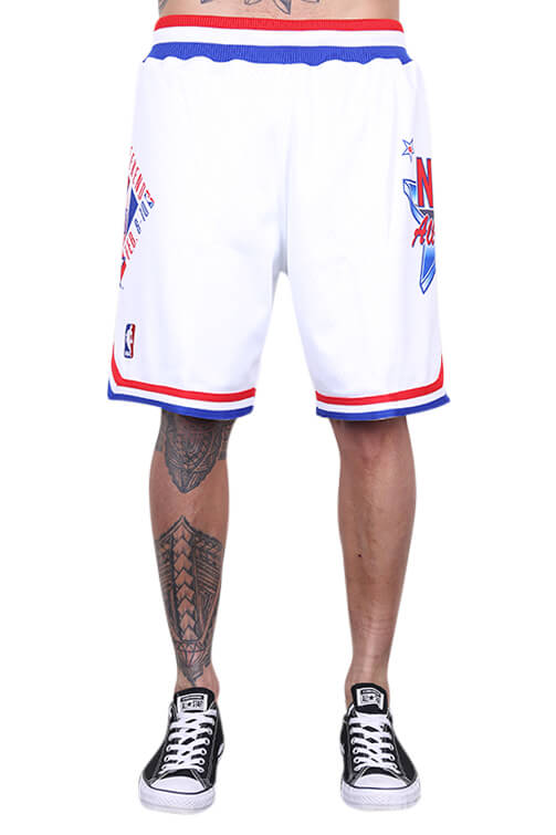 M&N All Star East Swingman Short White Front