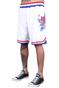 M&N All Star East Swingman Short White Side