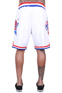 M&N All Star East Swingman Short White Back