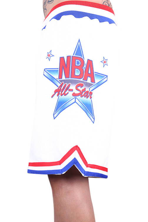 M&N All Star East Swingman Short White Close Up Side