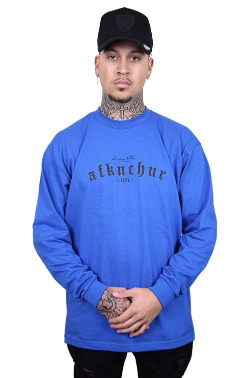 AFKNCHUR Pro Club Lifestyle L/S Tee Blue/Black