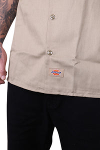 Dickies Button Up S/S Khaki Detail 2