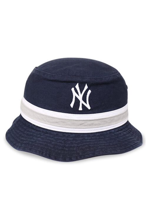 47 Brand NY Yankees Navy Striped Bucket Front