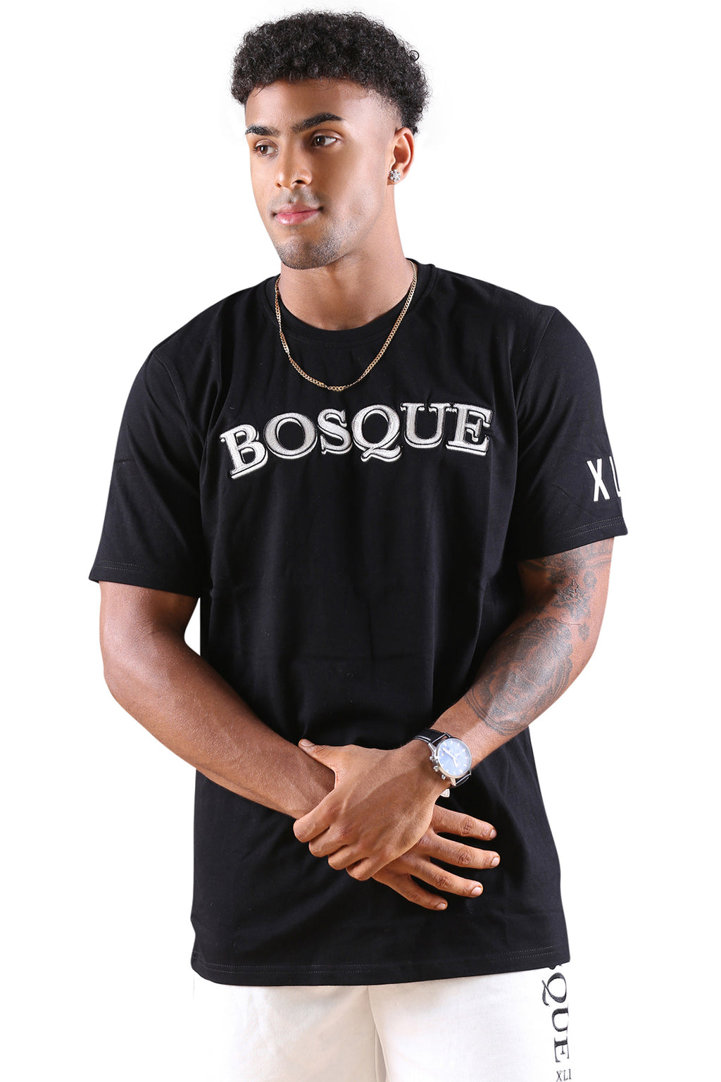 Bosque Prsto Tee Black/White