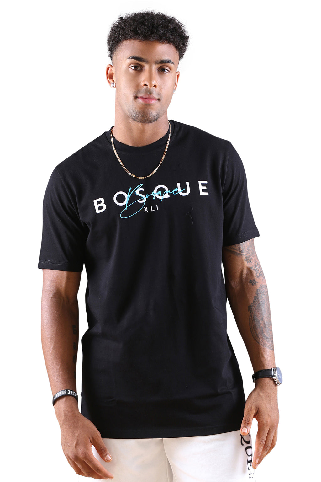 Bosque Suave Tee Black/Sky