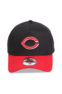 New Era 940 A Frame Cincinnati Reds OTC Black/Red Snapback